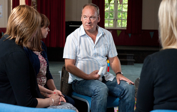 Emmerdale, Jimmy at the bereavement group, Mon 19 Sep