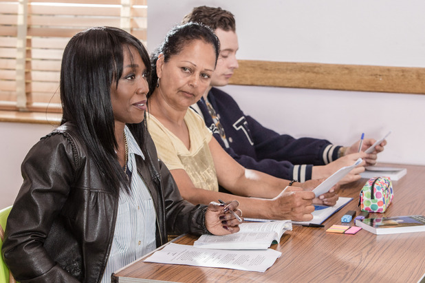 EastEnders, Denise has her first GCSE class, Thu 15 Sep