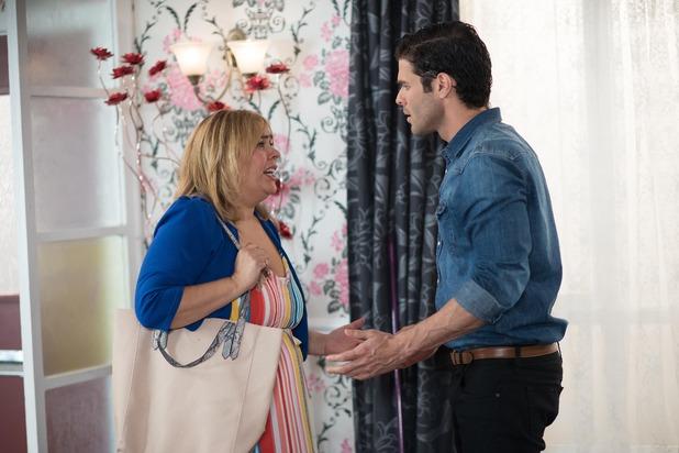 Hollyoaks, Myra upset when Diego's mother arrives, Mon 19 Sep