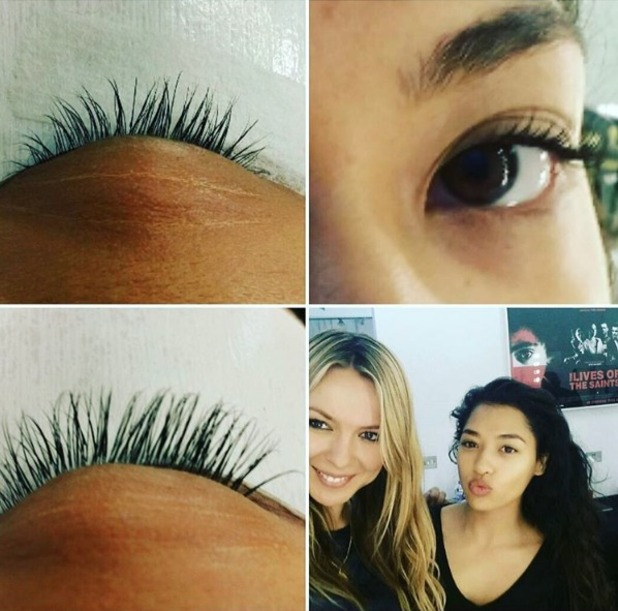 Vanessa White shows off new eyelash extensions, thanks to Edy at Lots Of Lashes, London, 12 September 2016
