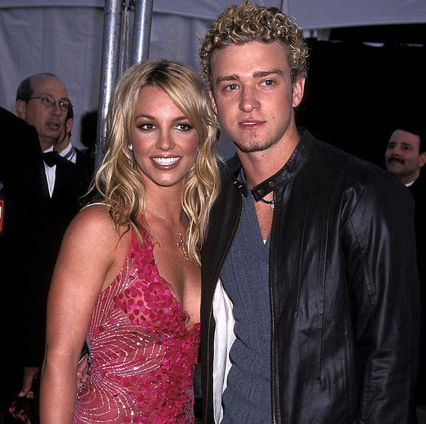 Britney Spears and Justin Timberlake pictured back in 2002 at the American Music Awards