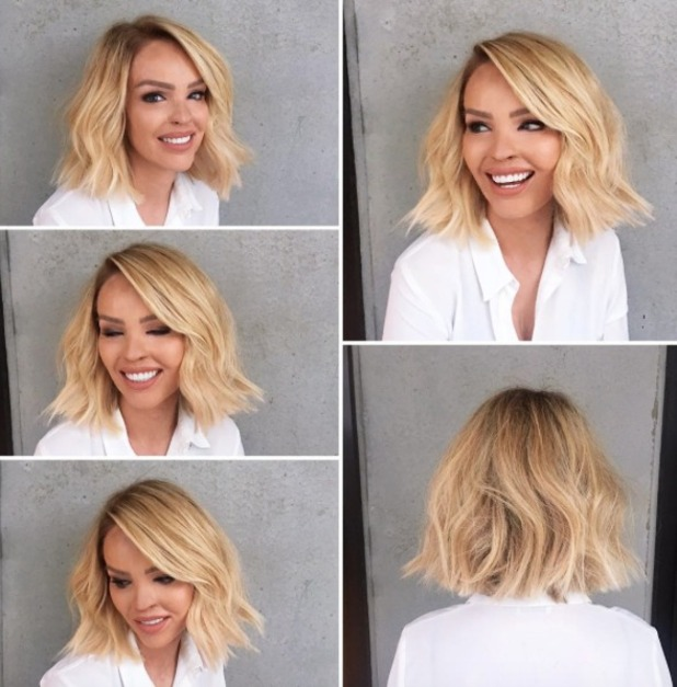Katie Piper reveals her fabulous new choppy bob, ahead of Cosmopolitan's Fash Fest at LFW, hair by Mikey Kardashian, 15 September 2016