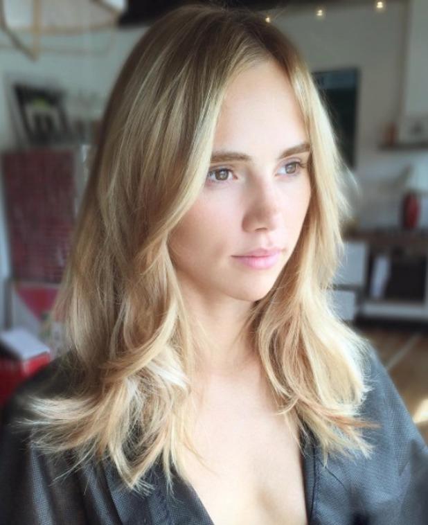 Suki Waterhouse, new Easilocks hair extensions by Shane O'Sullivan, 12 September 2016