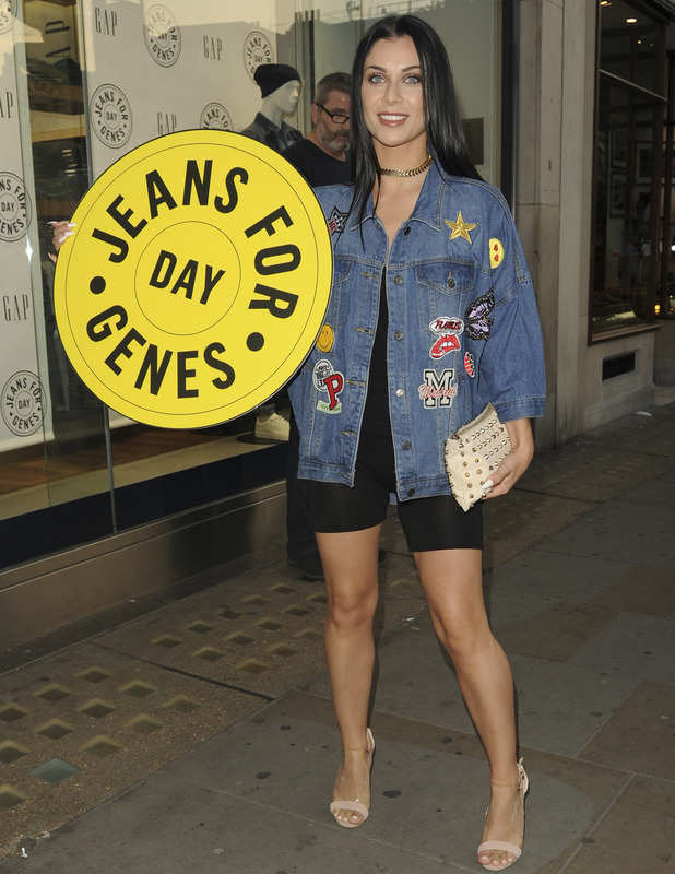 Love Island's Cally Jane Beech at the GAP Jeans for Genes party in London, 13 September 2016