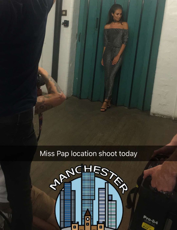 The Only Way Is Essex's star Megan McKenna teases her Miss Pap range on Snapchat, 15 September 2016