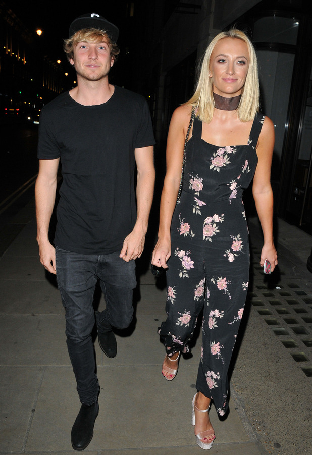 Made In Chelsea's Tiffany Watson out and about in London with boyfriend Sam Thompson, 12 September 2016