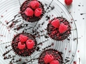 Chocolate, Beetroot and Raspberry Cupcakes picture to accompany recipe