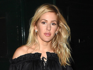 Ellie Goulding goes off-the-shoulder for her royal night out