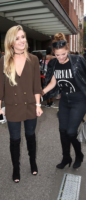 Tina Stinnes and Millie Wilkinson leaving Vin + Omi LFW show, London, 19 September 2016