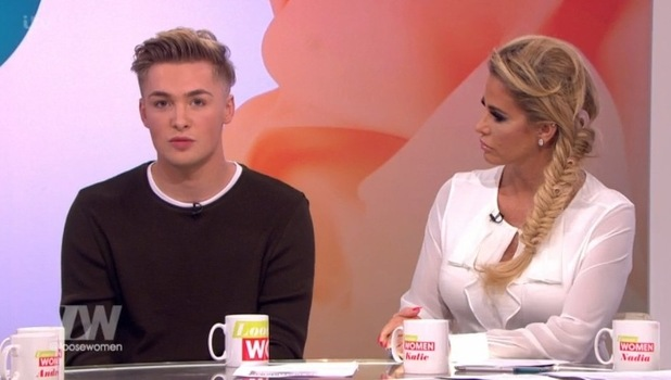 Katie Price with lookalike Nathan Thursfield, Loose Women 19 September