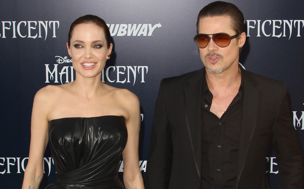 Brad Pitt and Angelina Jolie, Maleficent Hollywood premiere May 2014