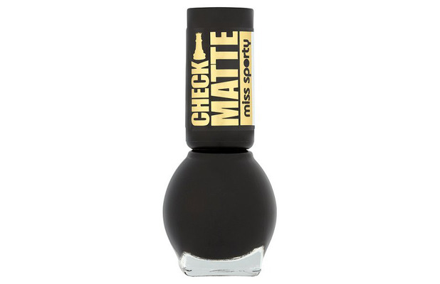 Miss Sporty Check Matte nail polish in Total Darkness £1.99 21 September 2016
