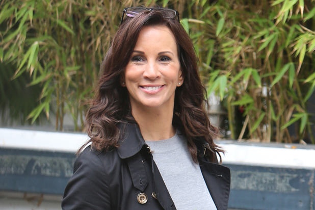 Andrea McLean outside ITV studios, London 19 September