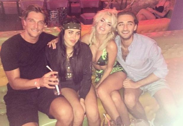 Marnie Simpson, Hannah Elizabeth and Lewis Bloor in Barcelona 19 September