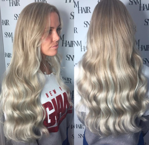 TOWIE star Chloe Meadows shows off her new princess-inspired hair extensions, Instagram, 20 September 2016