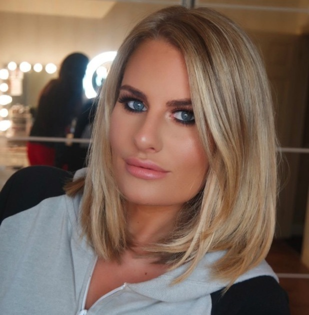 TOWIE star Danielle Armstrong wearing Girls With Attitude lashes, Instagram, 22 September 2016