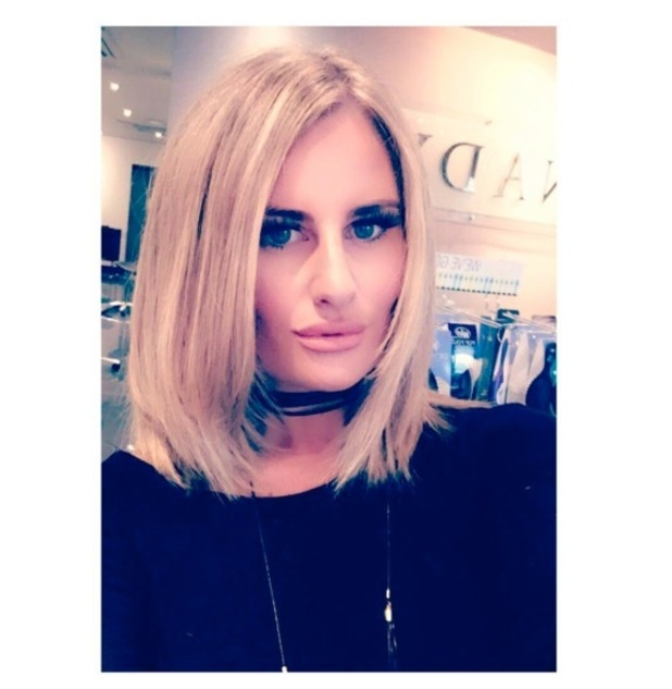 TOWIE's Danielle Armstrong shows off her stunning lob (long bob) on Instagram 19 September 2016