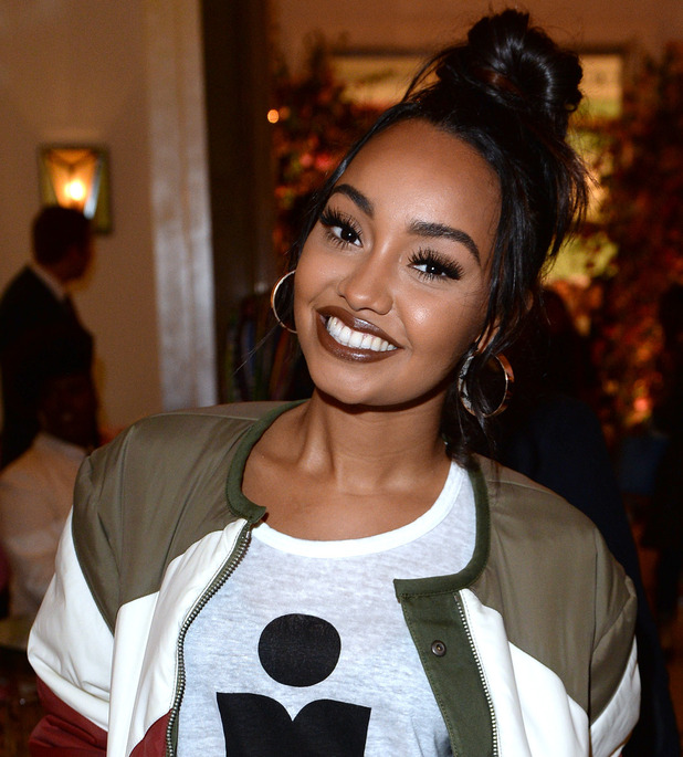 Leigh-Anne Pinnock attends the Aspinal of London presentation during London Fashion Week Spring/Summer collections 2017 on September 19, 2016 in London, United Kingdom.