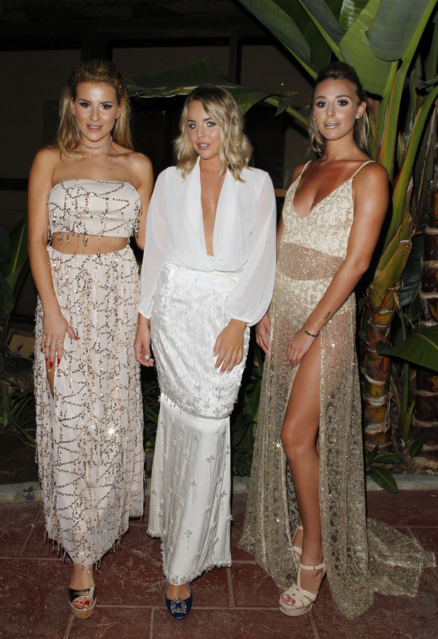 Georgia Kouosoulou, Lydia Bright and Amber Dowding in Marbella, 24 Sept 16