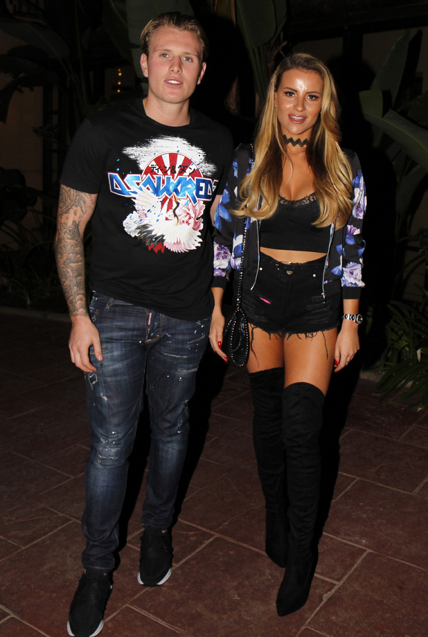 TOWIE'sGeorgia Kousoulou   and Tommy Mallet in Marbella, 23/9/16
