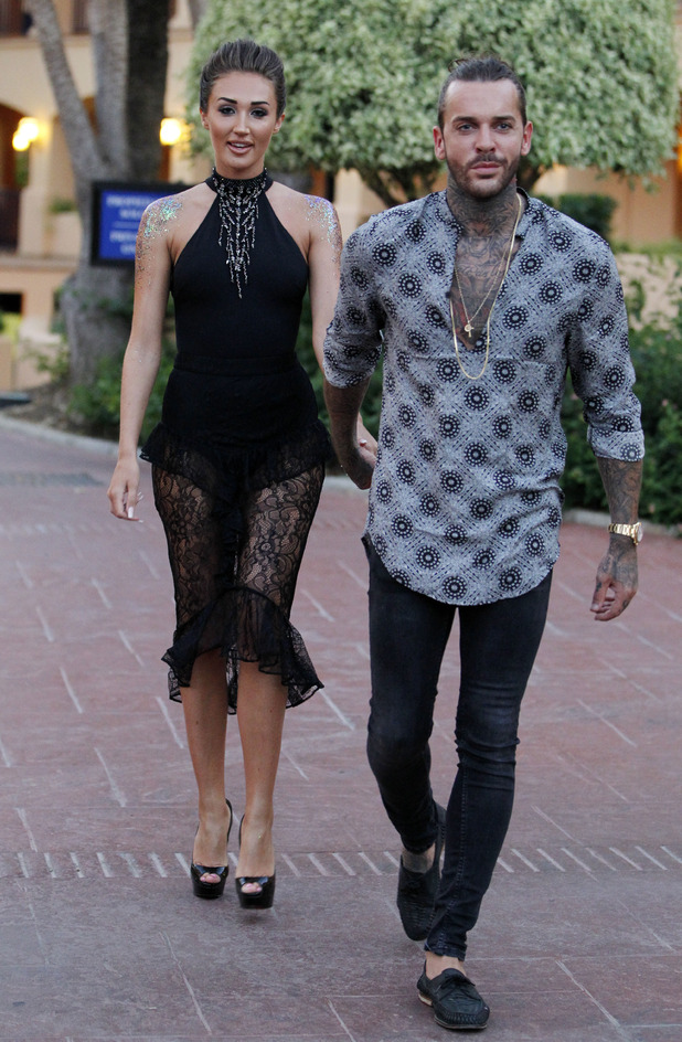 Megan McKenna and Pete Wicks in Marbella, 24 September 2016