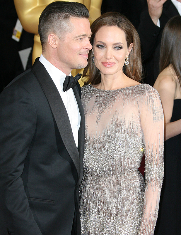The 86th Annual Oscars held at Dolby Theatre Angelina Jolie, Brad Pitt 2014