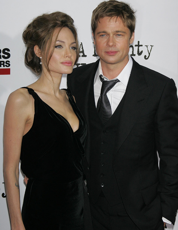 Angelina Jolie and Brad Pitt at screening of A Mighty Heart in 2007
