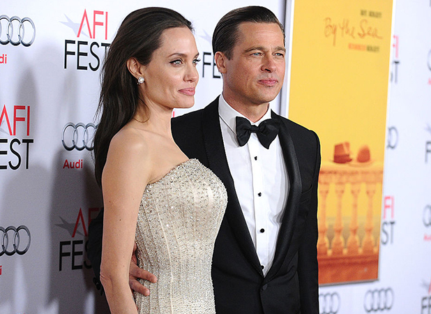 Angelina Jolie and Brad Pitt attend the premiere of 'By the Sea' at the 2015 AFI Fest at TCL Chinese 6 Theatres on November 5, 2015 in Hollywood, California. (Photo by Jason LaVeris/FilmMagic)