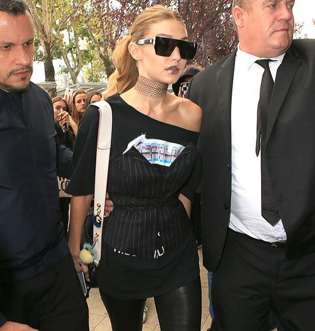 Gigi Hadid is seen on September 22, 2016 in Milan, Italy. (Photo by Robino Salvatore/GC Images)