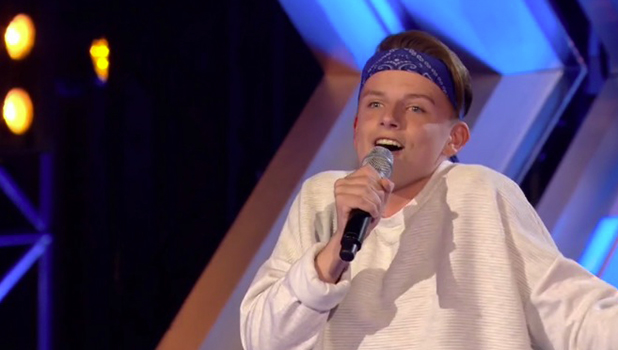 X Factor's James Hughes performs Tina Turner's Proud Mary at Six Chair Challenge 24 Sept 2016