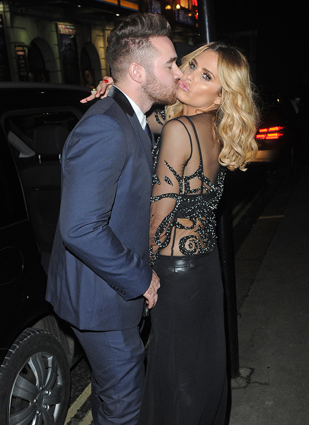 Katie Price and Husband Kieran Hayler seen putting on a show of PDA as they were seen leaving the Ivy Club in London. 2016