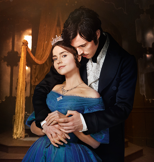 JENNA COLEMAN as Victoria and TOM HUGHES as Albert. Victoria, ITV