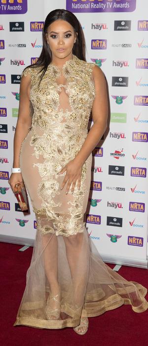 Lateysha Grace at the National Reality Television Awards, 29 September 2016
