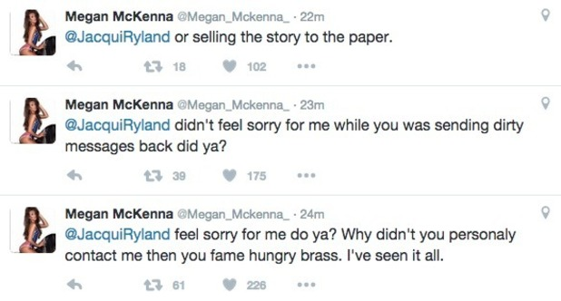 Megan McKenna tweets Pete Wicks' ex Jacqui Ryland