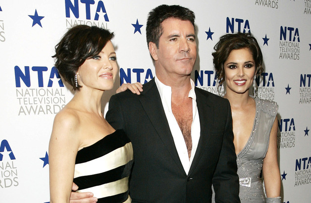 Dannii Minogue, Simon Cowell, Cheryl Cole at the National Television Awards held at the O2 Arena 2010