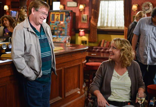 EastEnders, Ian notices how pretty Jane looks, Mon 3 Oct