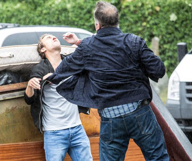 Corrie, David is beaten up, Mon 3 Oct