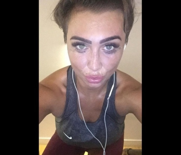 Lauren Goodger takes selfie after the gym, Instagram 25 September