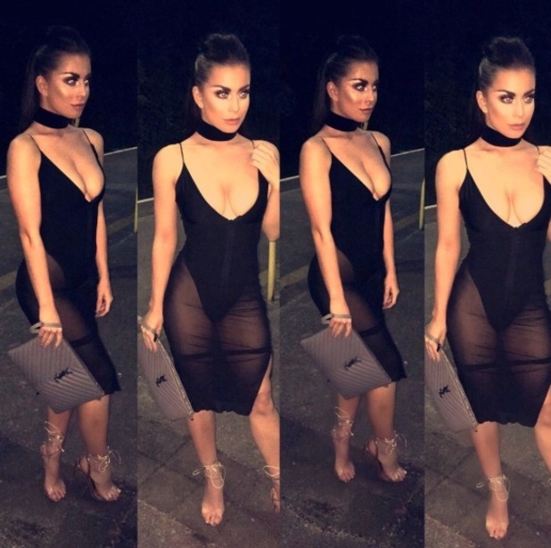 Love Island's Katie Salmon wears Kim Kardashian-inspired dress on night out, 26 September 2015