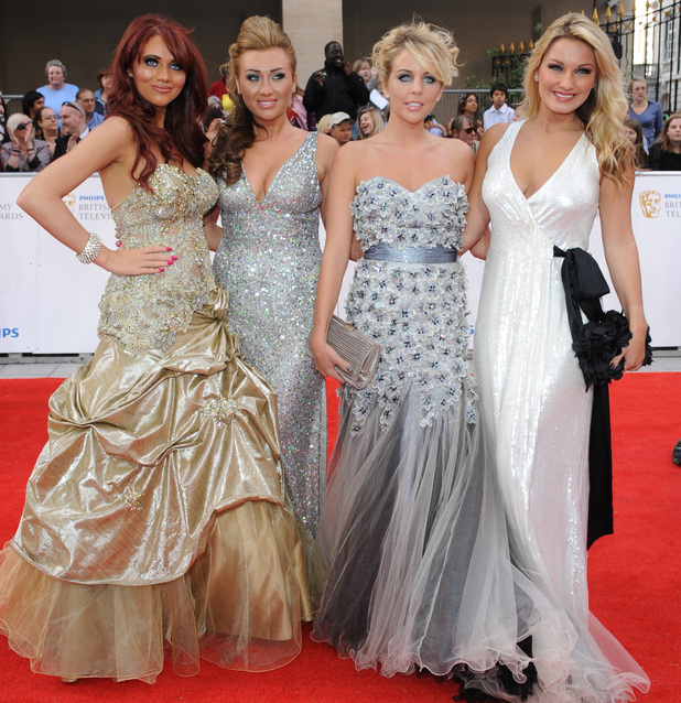 Amy Childs, Lauren Goodger, Lydia Rose Bright AKA Lydia Bright and Sam Faiers at the BAFTAS, 2011