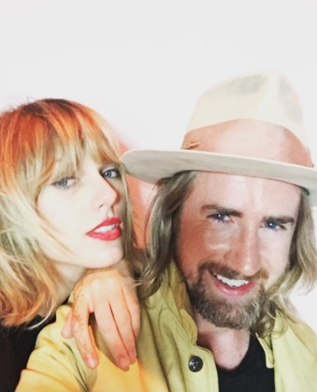 Taylor Swift shows off new layered shag, hair by Gareth Bromell, 26 September 2016