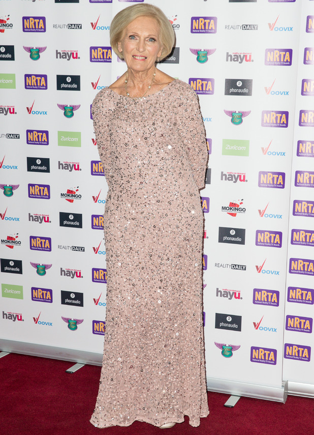 Mary Berry attends National Reality TV Awards, London 29 September