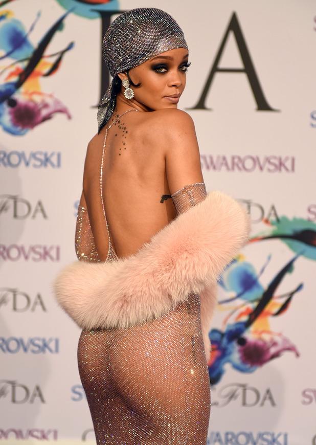 Rihanna at the US Fashion CFDA Awards, June 2014