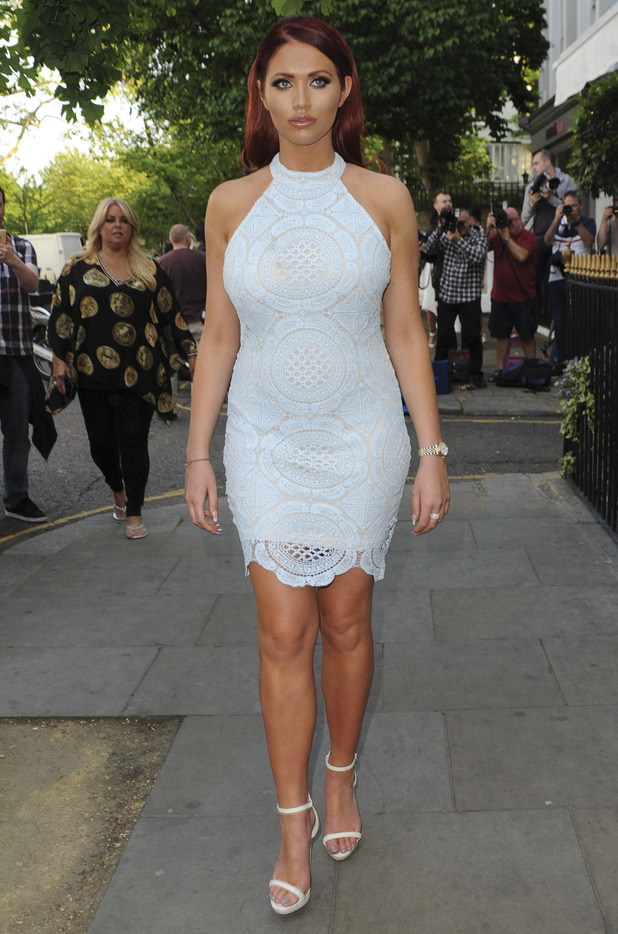 Amy Childs attends her own clothing launch, London 7 June