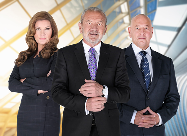 The Apprentice series 12: Lord Sugar, Karren Brady and Claude Littner 2016