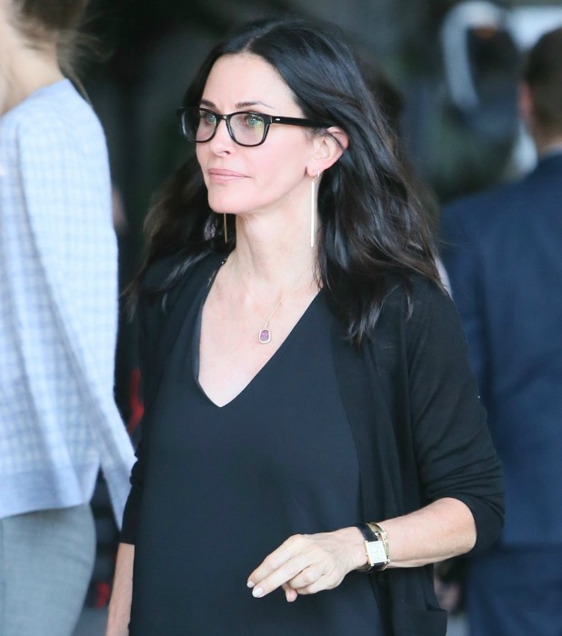 Celebrities seen leaving Revlon's Annual Philanthropic Luncheon at Chateau Marmont Courteney Cox