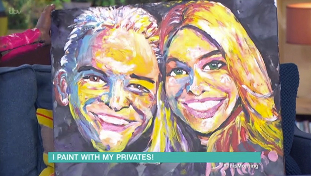 This Morning: Holly Willoughby and Phillip Schofield interview man who paints with his penis 26 September 2016