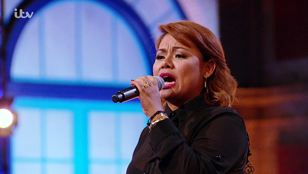 Ivy Grace Paredes performs for the judges at bootcamp on 'The X Factor'. Broadcast onITV1HD