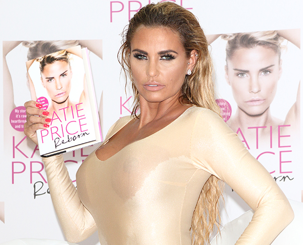 Katie Price Book Launch photocall to mark the publication of her latest autobiography, Reborn, released tomorrow. Held at The Worx,  Parsons Green, London