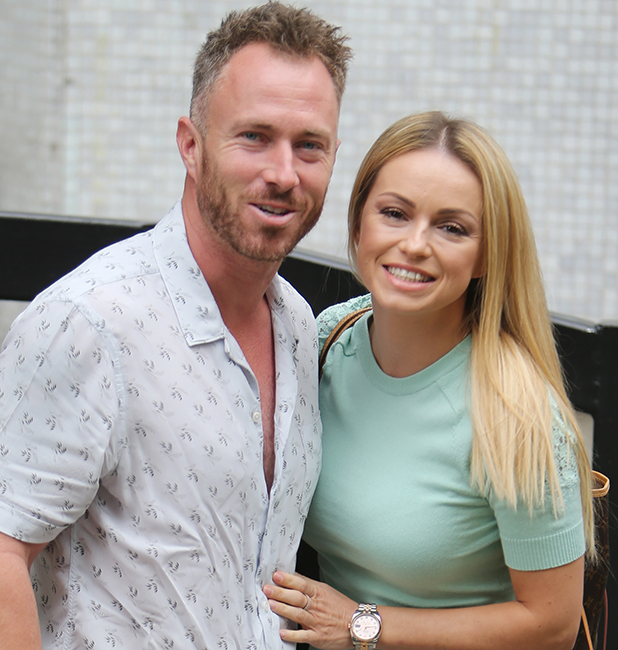 Ola and James Jordan outside ITV Studios 27 Sept 2016